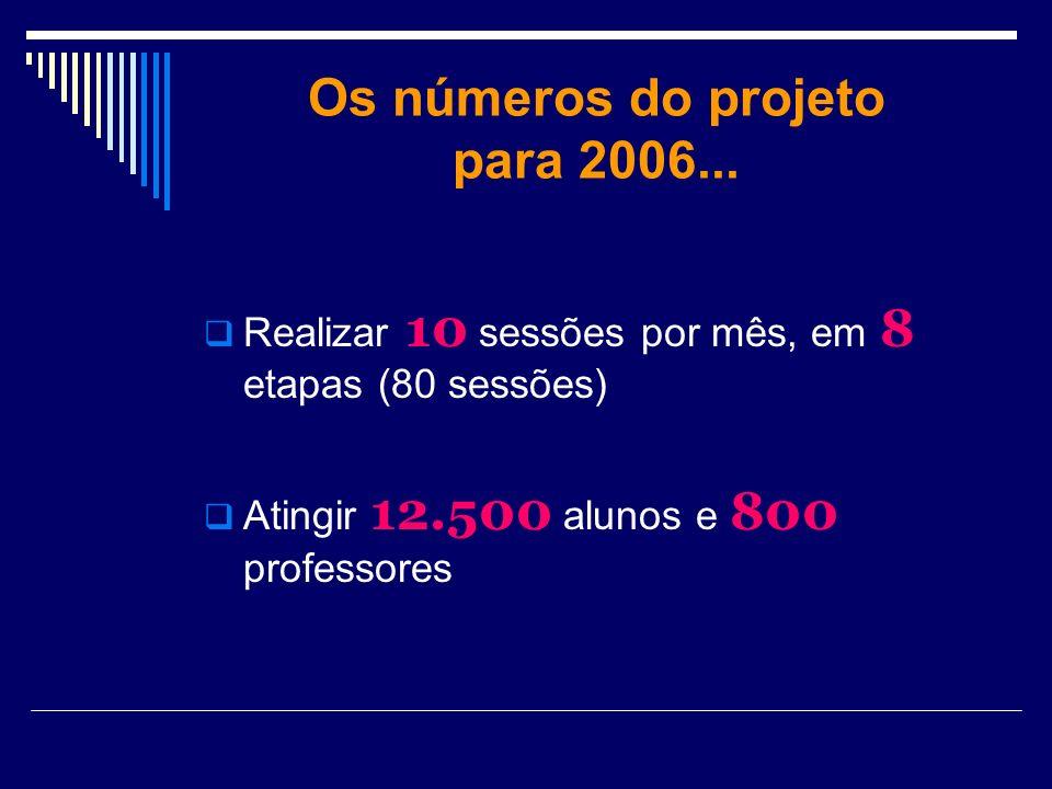 Os números do projeto para 2006...