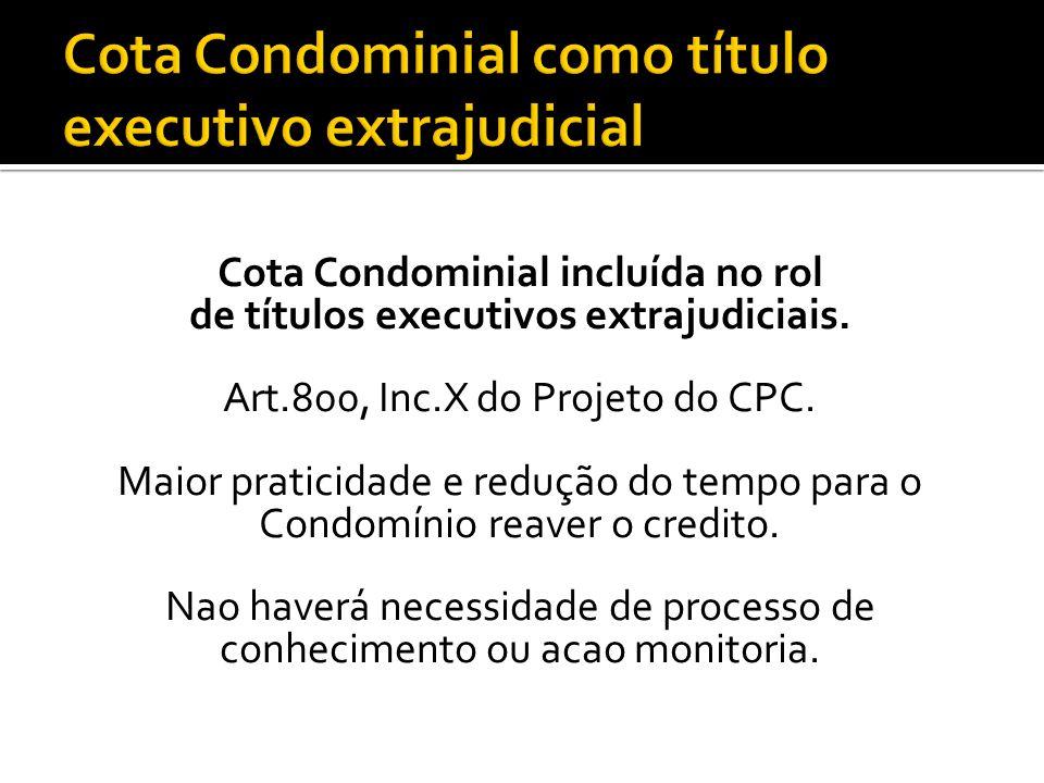 Cota Condominial como título executivo extrajudicial