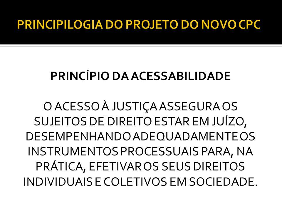 PRINCIPILOGIA DO PROJETO DO NOVO CPC