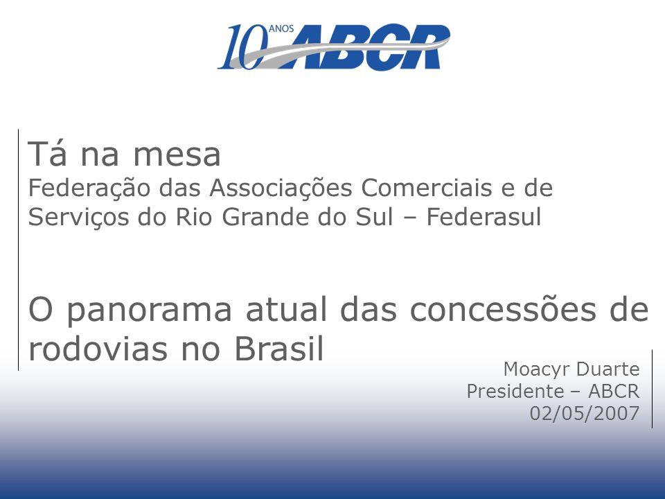 O panorama atual das concessões de rodovias no Brasil