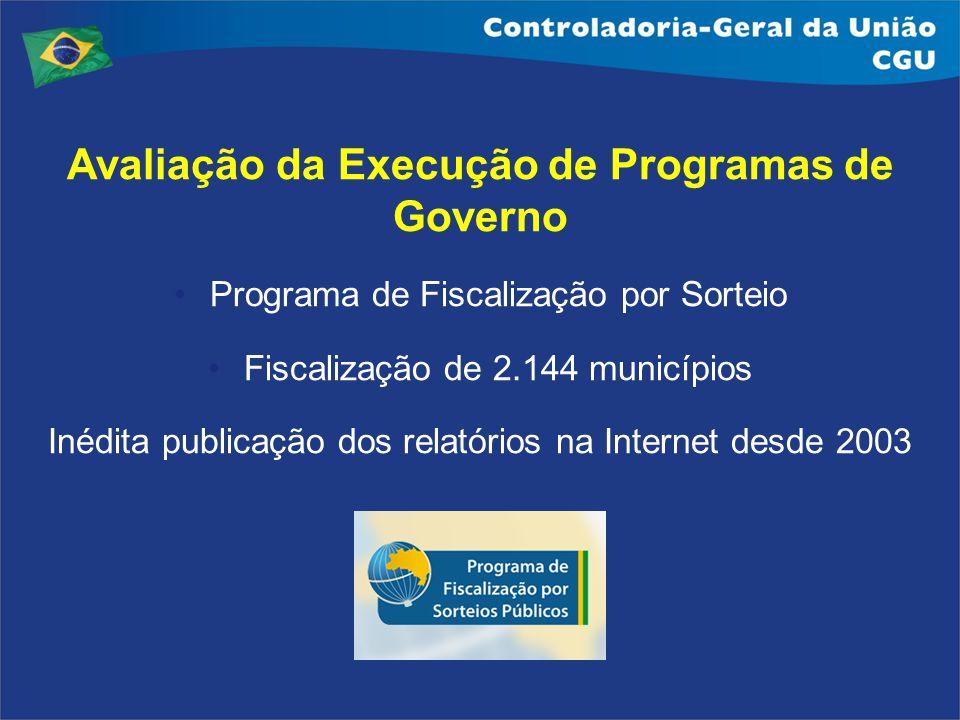 Avaliação da Execução de Programas de Governo