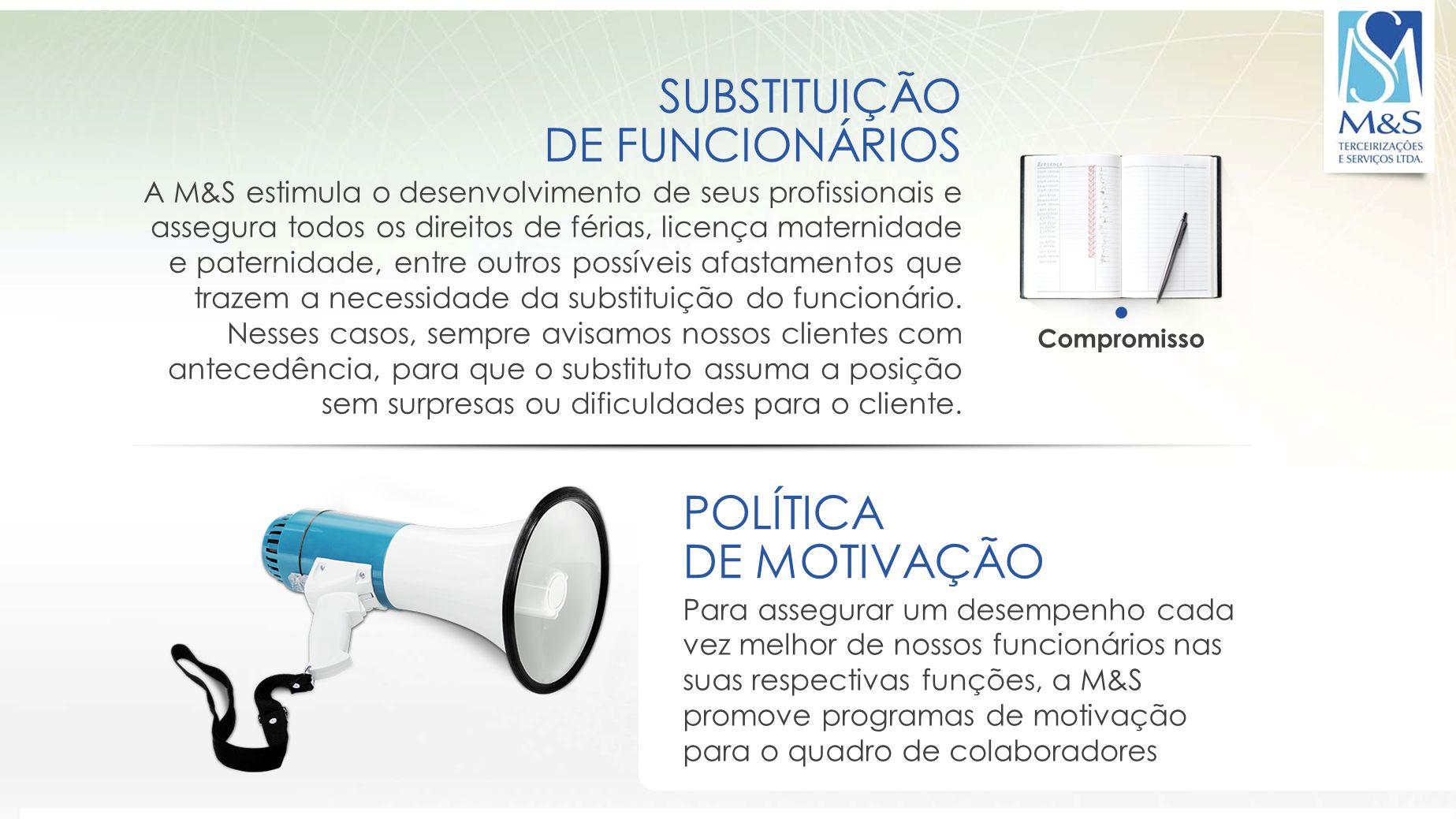 SUBSTITUIÇÃO DE FUNCIONÁRIOS