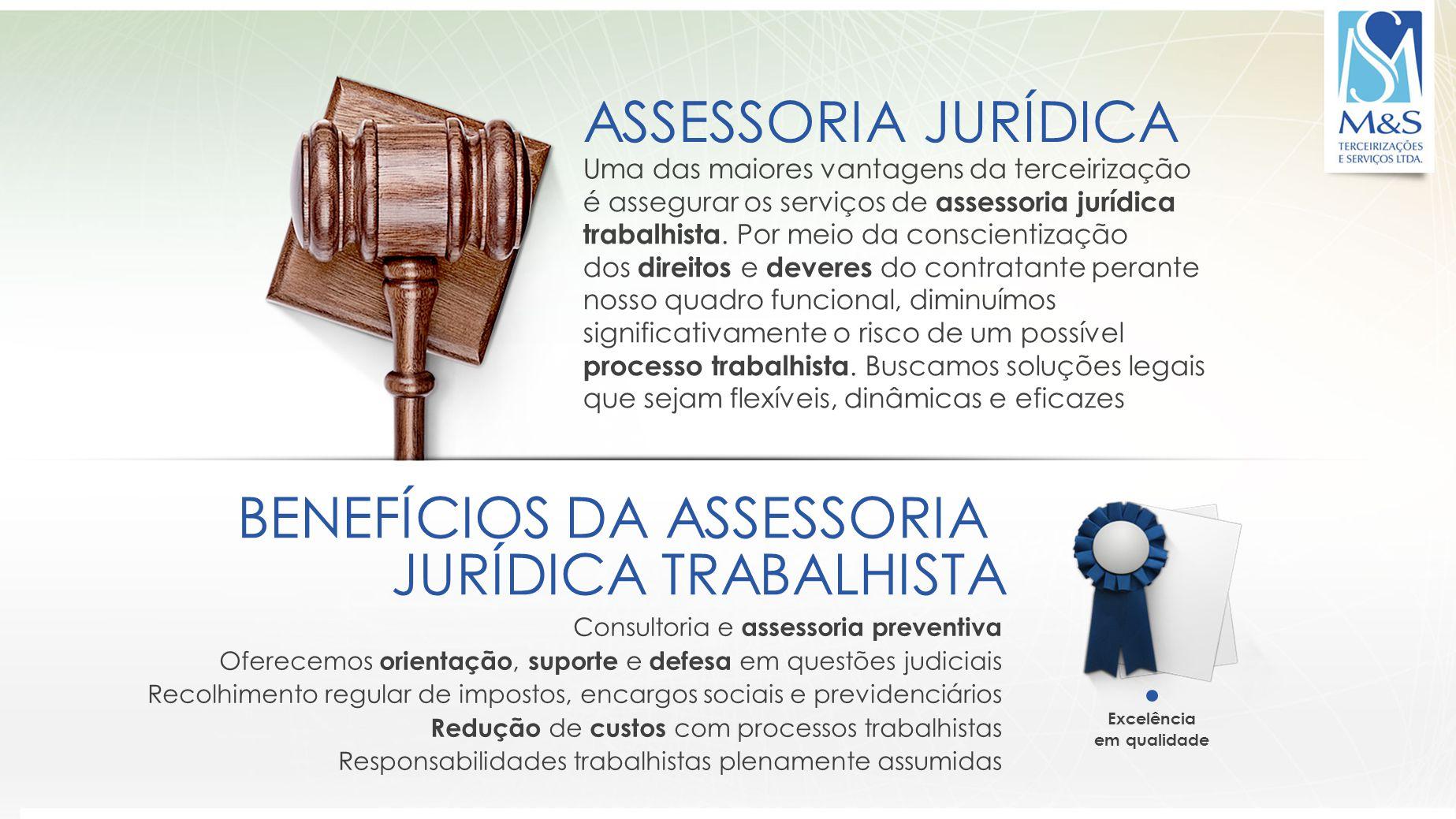 BENEFÍCIOS DA ASSESSORIA JURÍDICA TRABALHISTA