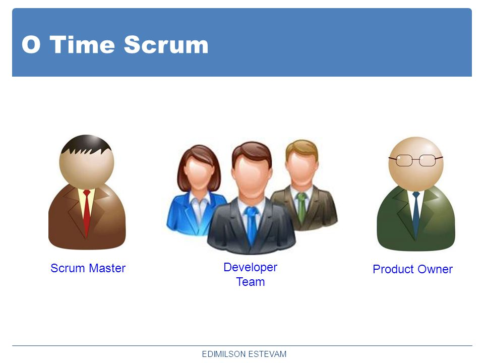 O Time Scrum Scrum Master Developer Team Product Owner