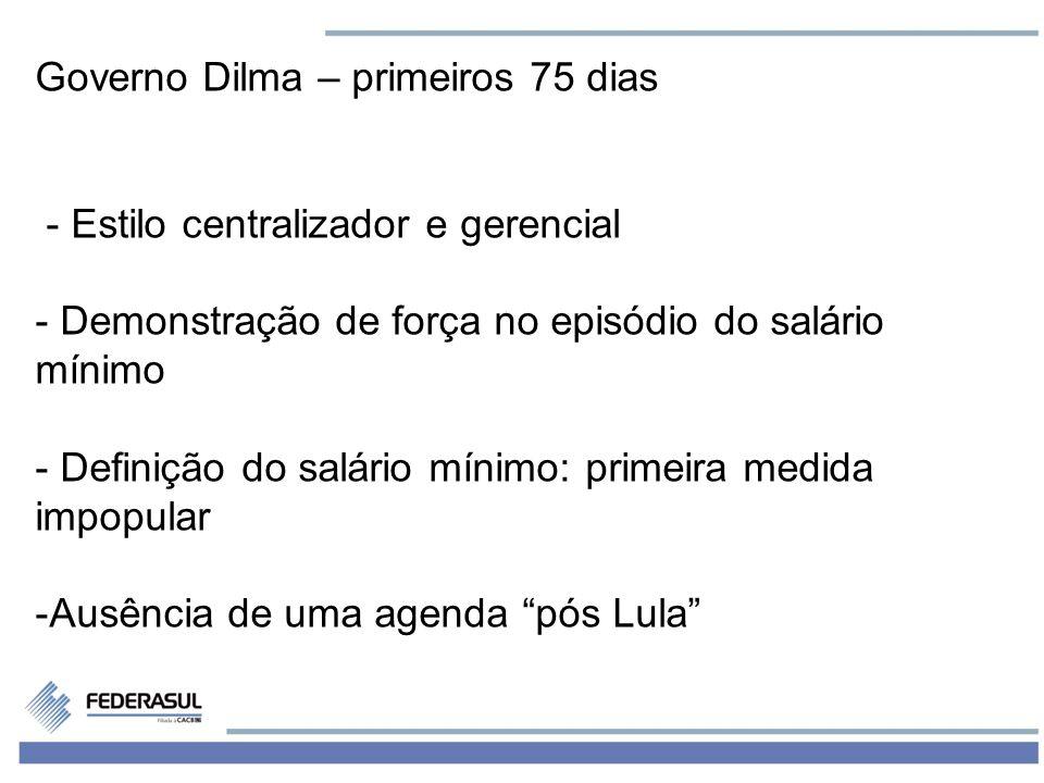 Governo Dilma – primeiros 75 dias
