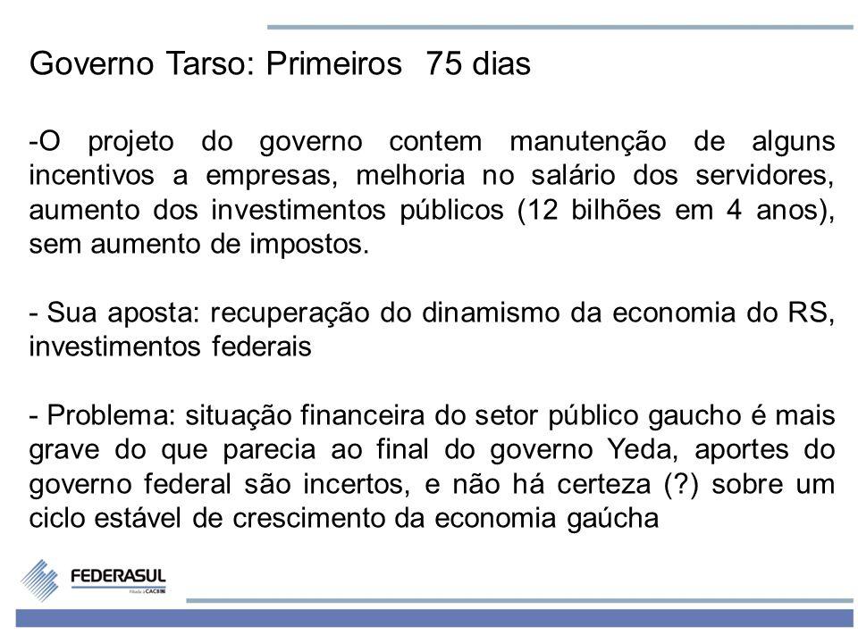 Governo Tarso: Primeiros 75 dias