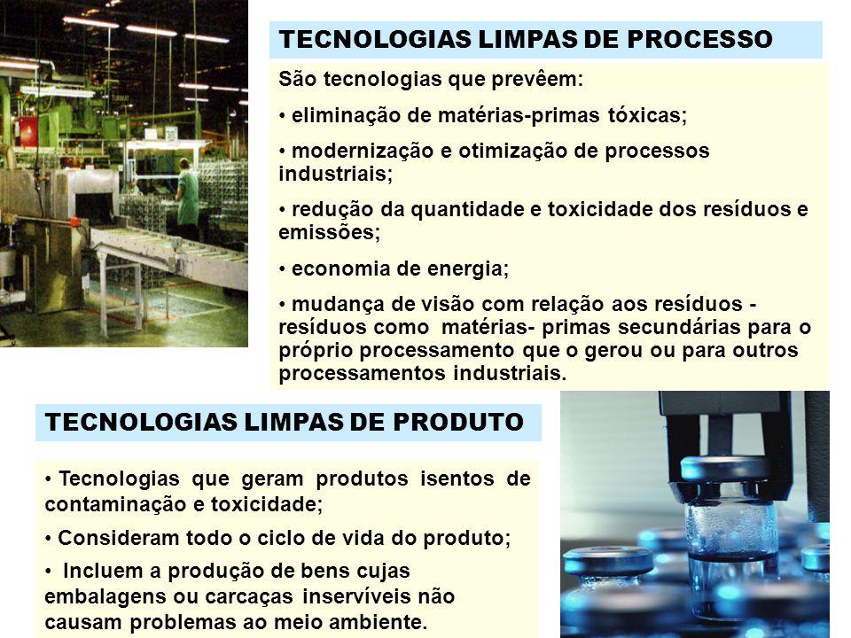 TECNOLOGIAS LIMPAS DE PROCESSO