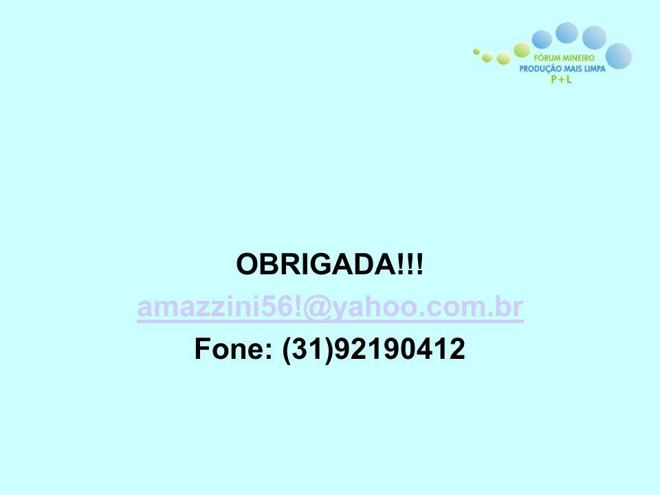 OBRIGADA!!! amazzini56!@yahoo.com.br Fone: (31)92190412