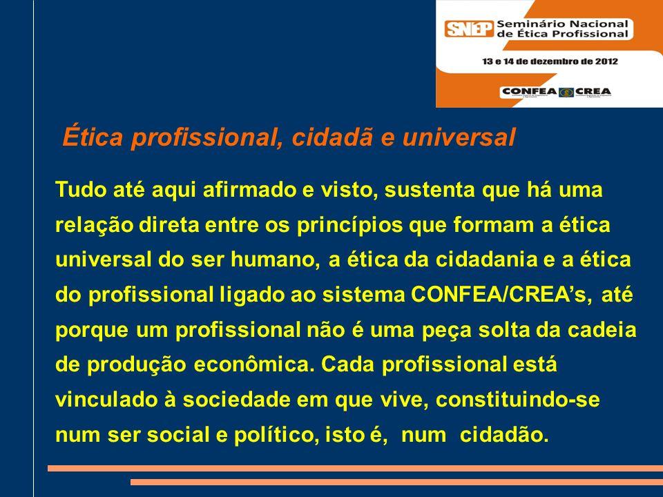 Ética profissional, cidadã e universal
