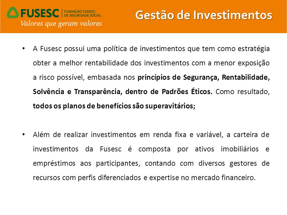 Gestão de Investimentos
