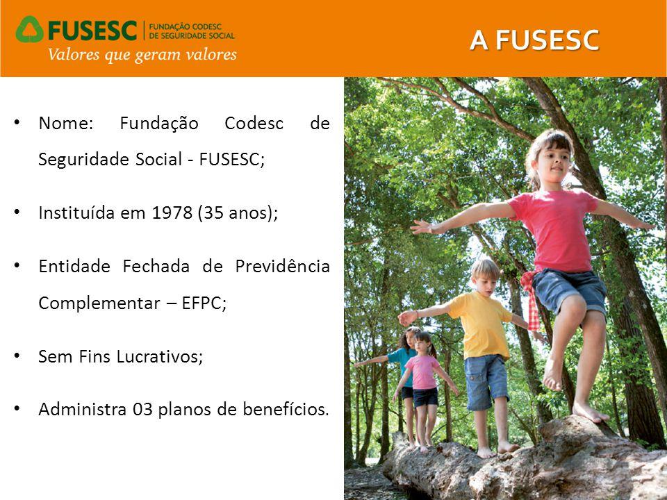 A FUSESC Nome: Fundação Codesc de Seguridade Social - FUSESC;