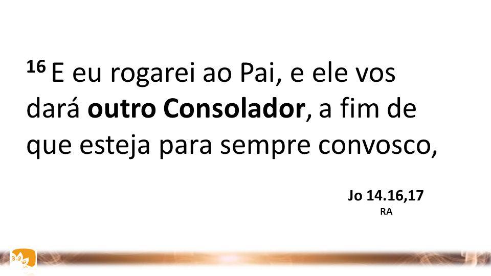 16 E eu rogarei ao Pai, e ele vos dará outro Consolador, a fim de que esteja para sempre convosco,