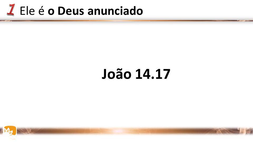 Ele é o Deus anunciado João 14.17