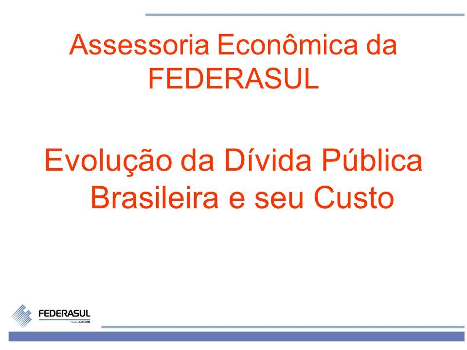 Evolução da Dívida Pública Brasileira e seu Custo