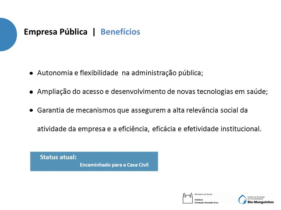 Empresa Pública | Benefícios