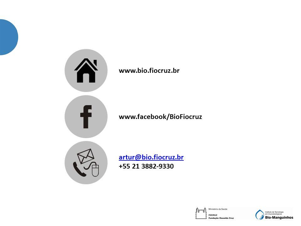 www.bio.fiocruz.br www.facebook/BioFiocruz artur@bio.fiocruz.br +55 21 3882-9330