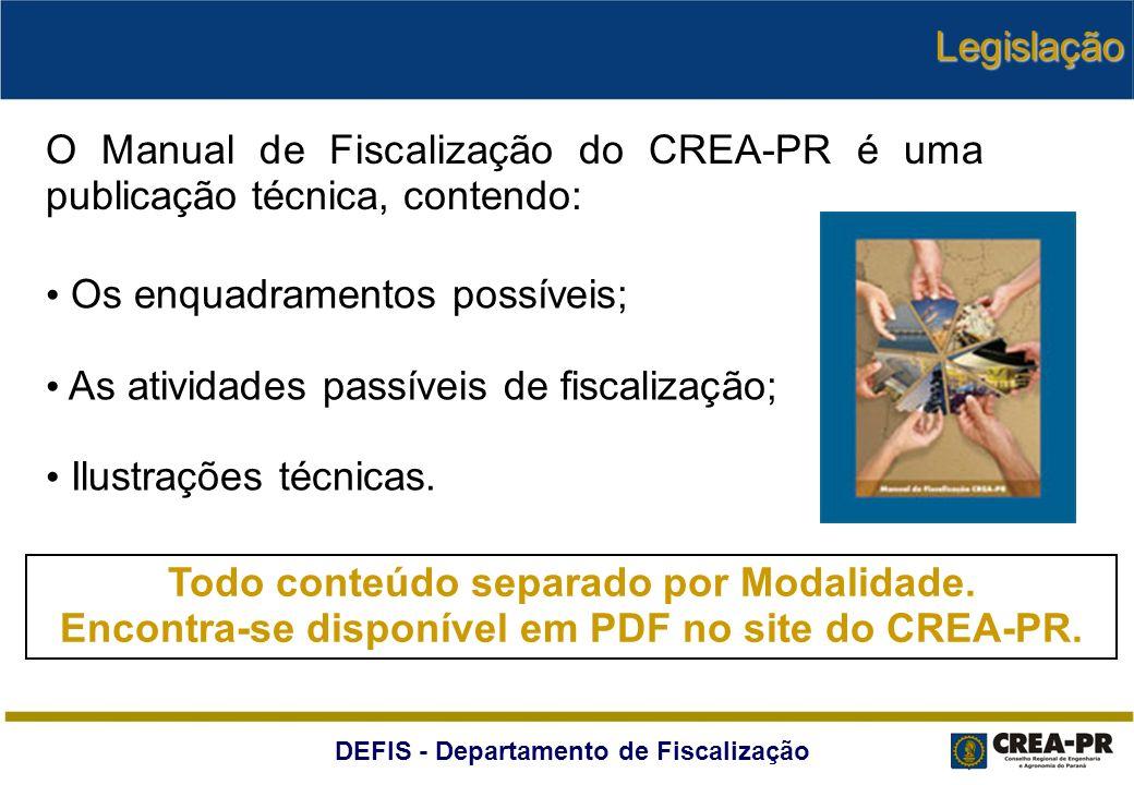 Os enquadramentos possíveis; As atividades passíveis de fiscalização;