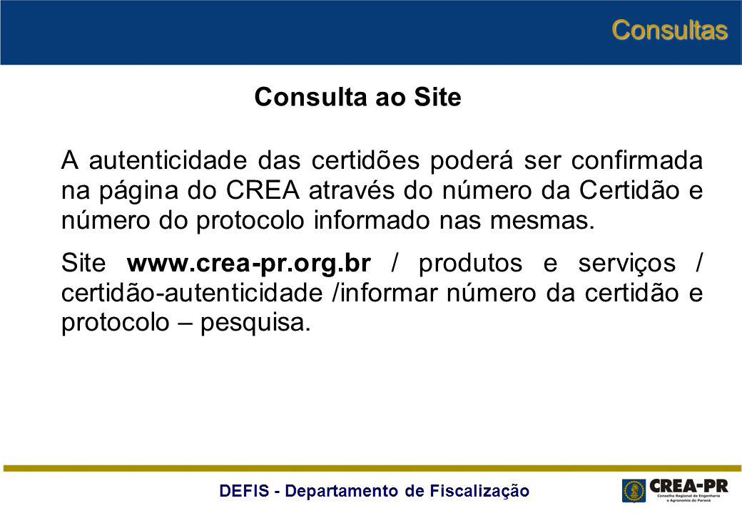 Consultas Consulta ao Site