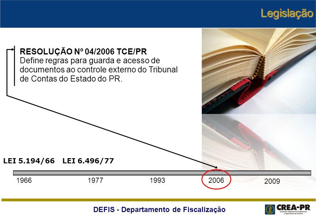 Legislação RESOLUÇÃO Nº 04/2006 TCE/PR