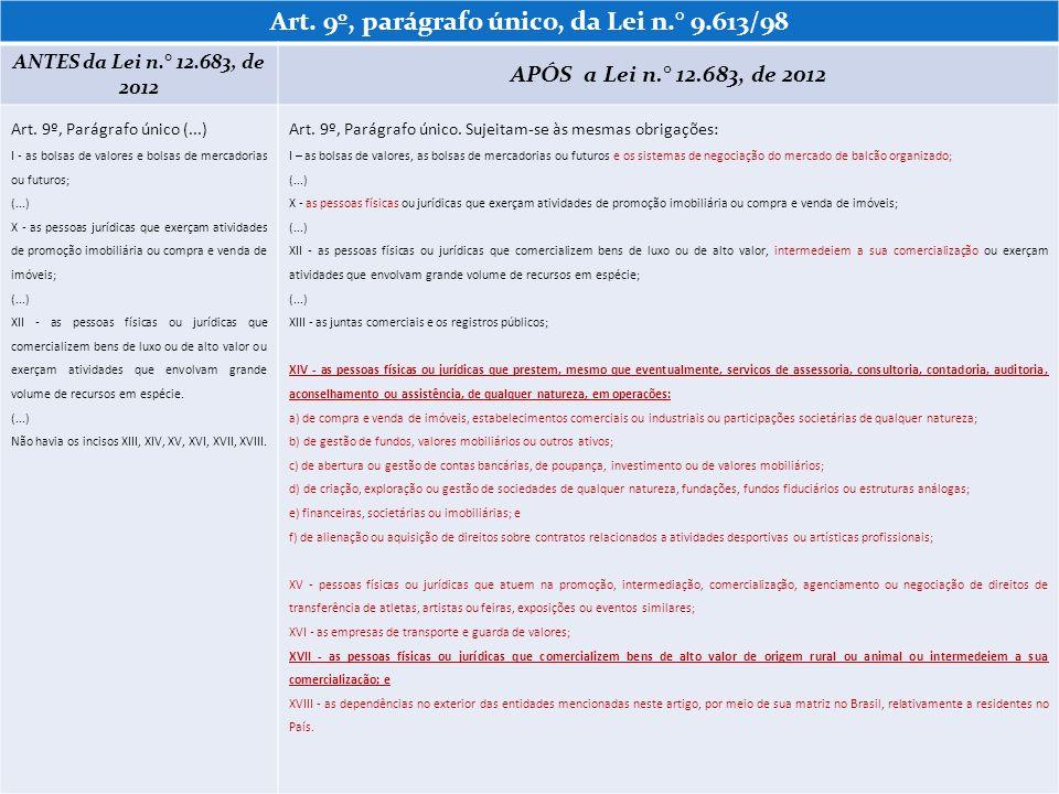 Art. 9º, parágrafo único, da Lei n.° 9.613/98
