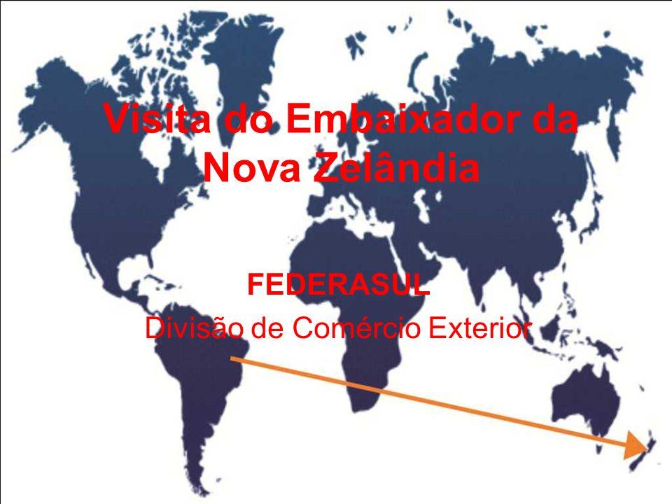 Visita do Embaixador da Nova Zelândia