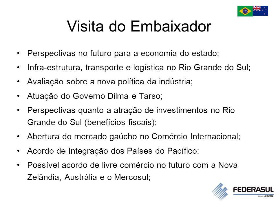 Visita do Embaixador Perspectivas no futuro para a economia do estado;
