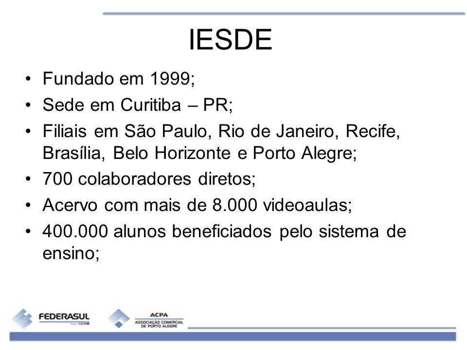 IESDE Fundado em 1999; Sede em Curitiba – PR;