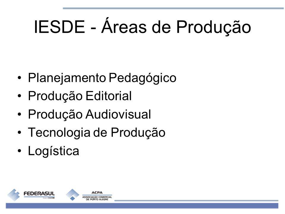 IESDE - Áreas de Produção