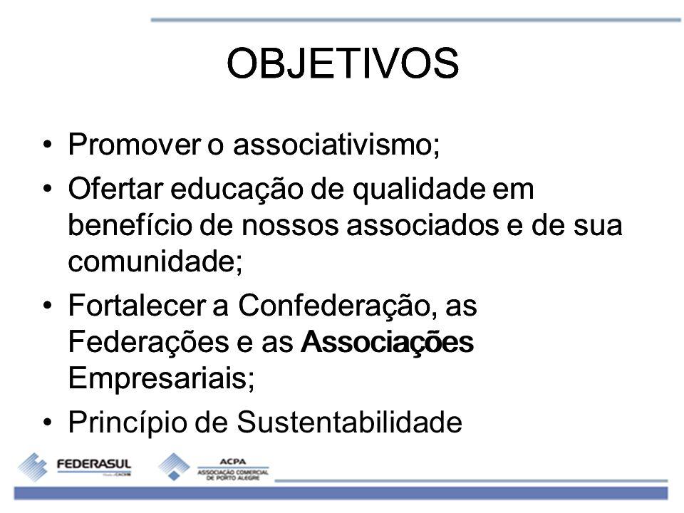 OBJETIVOS OBJETIVOS OBJETIVOS Promover o associativismo;
