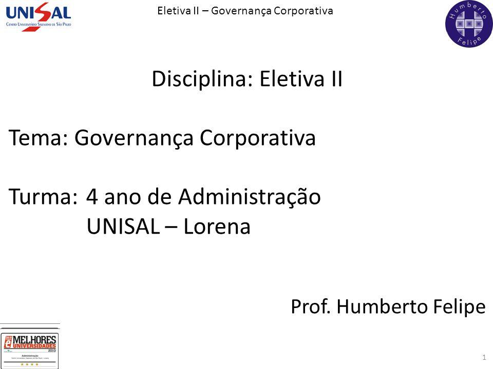 Disciplina: Eletiva II
