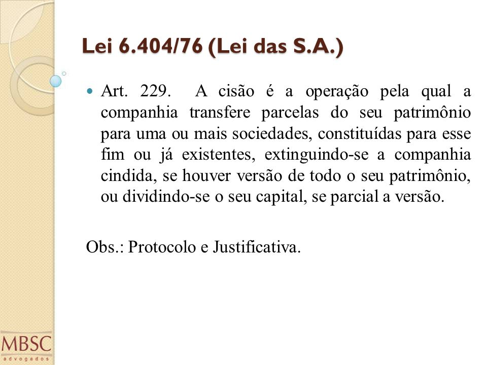 Lei 6.404/76 (Lei das S.A.)