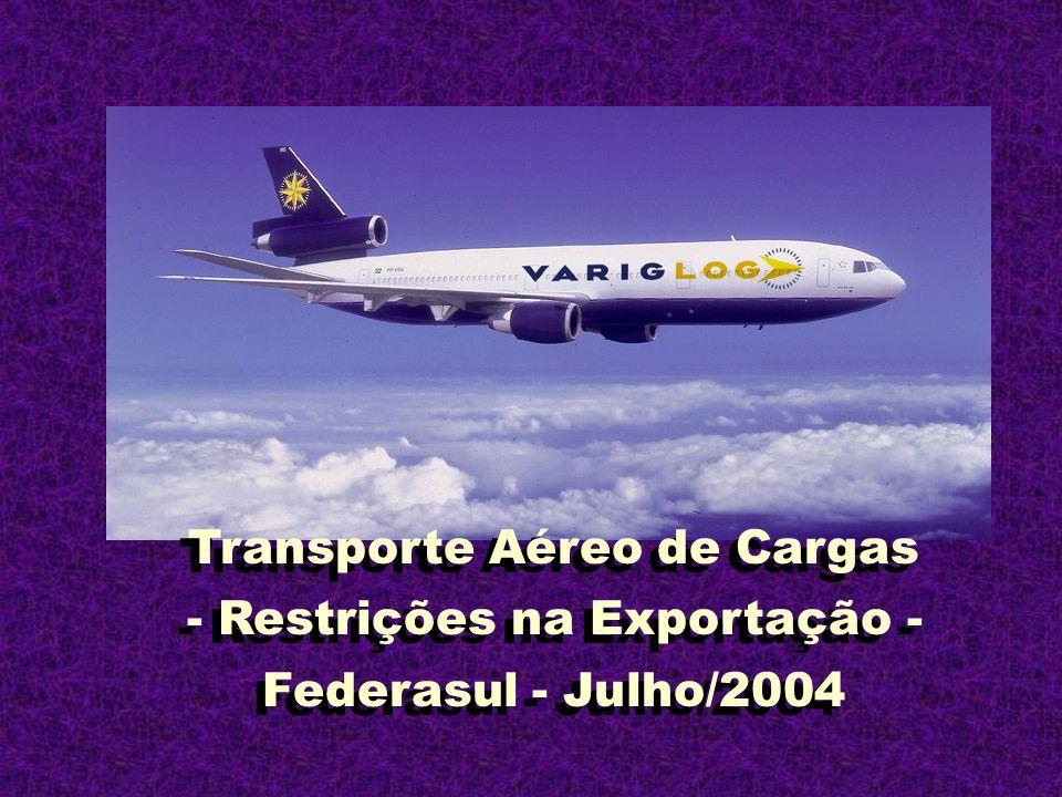 Transporte Aéreo de Cargas - Restrições na Exportação -