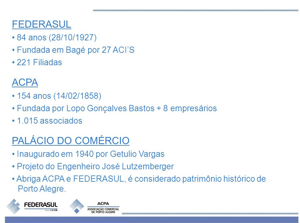 FEDERASUL ACPA PALÁCIO DO COMÉRCIO 84 anos (28/10/1927)