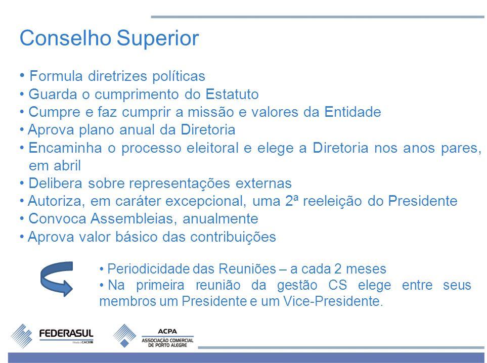 Conselho Superior Formula diretrizes políticas