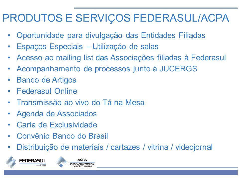 PRODUTOS E SERVIÇOS FEDERASUL/ACPA