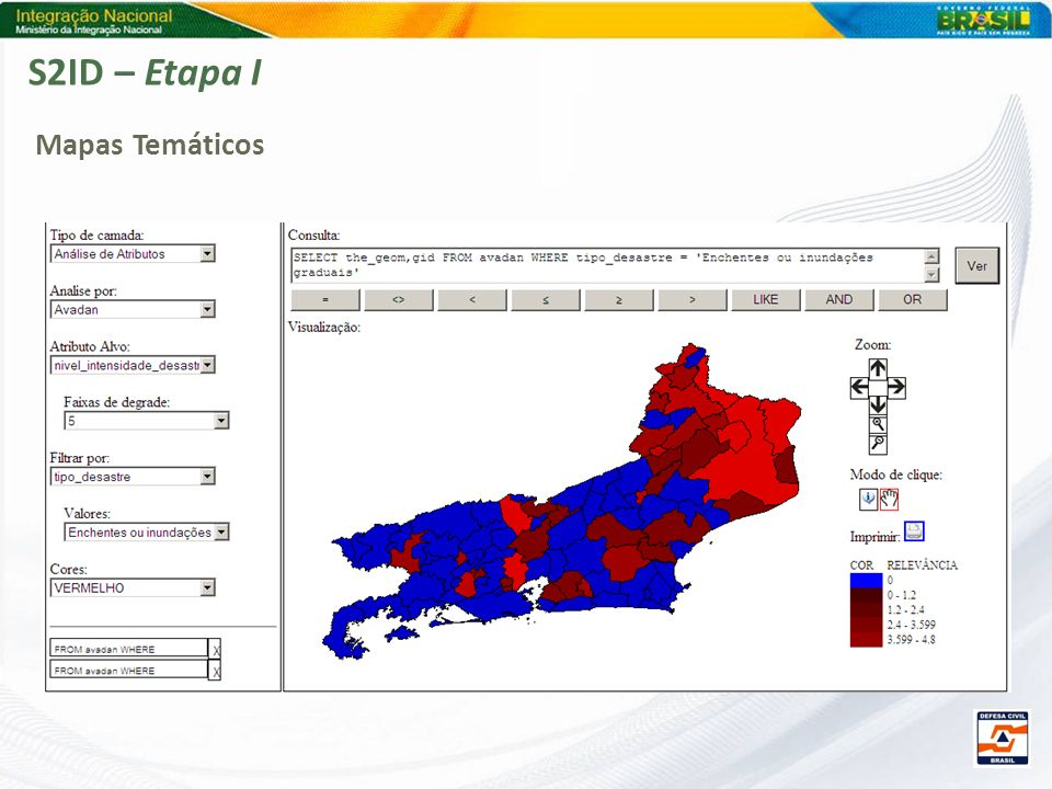 S2ID – Etapa I Mapas Temáticos