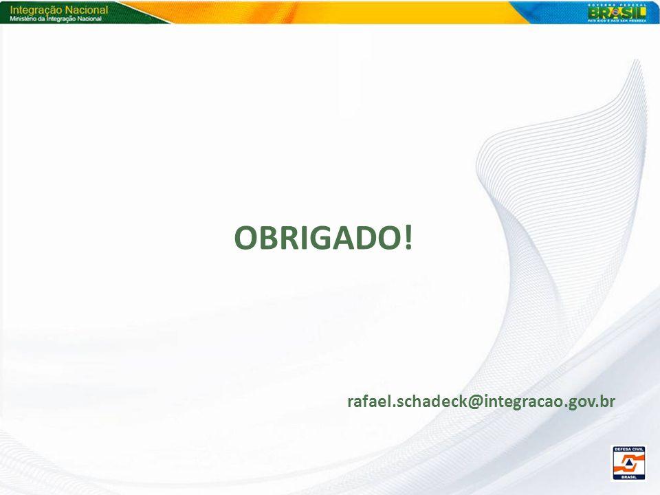 OBRIGADO! rafael.schadeck@integracao.gov.br
