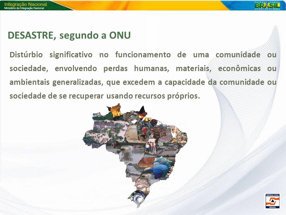 DESASTRE, segundo a ONU