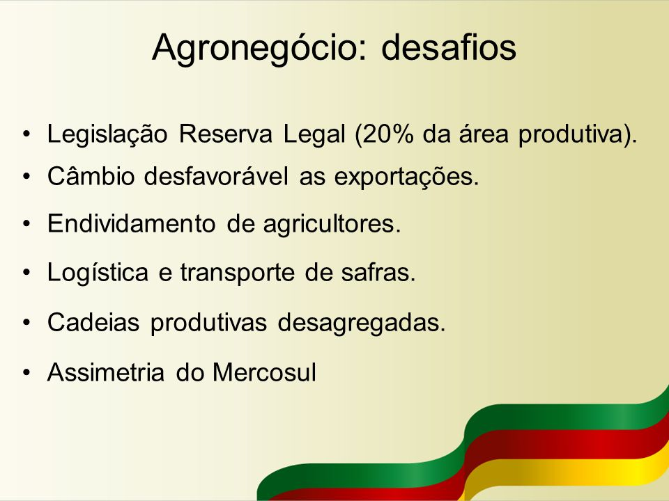 Agronegócio: desafios