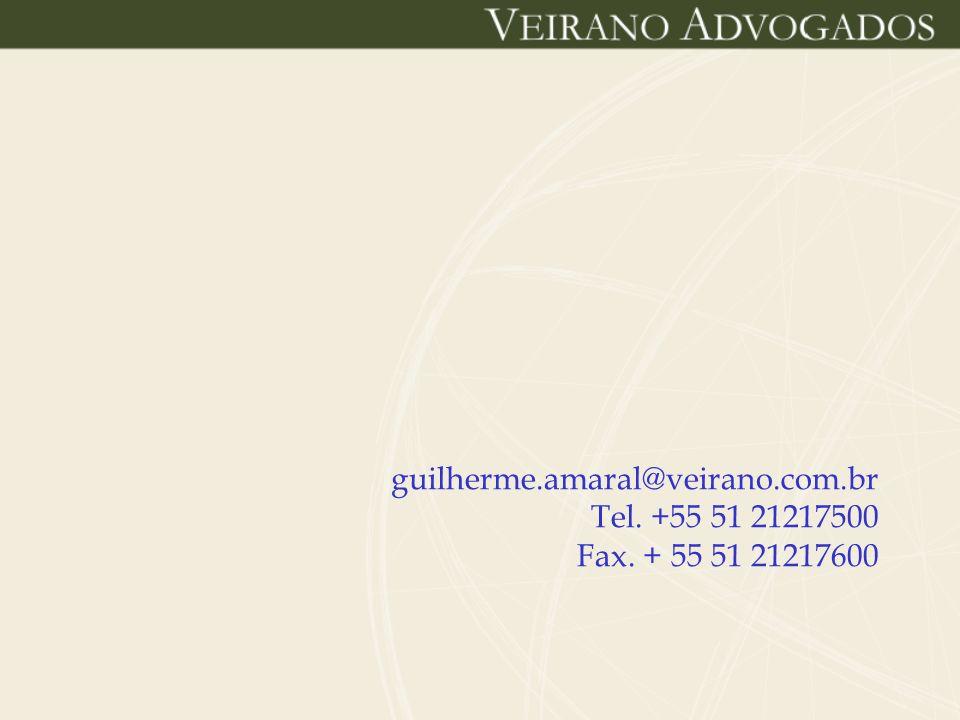 guilherme.amaral@veirano.com.br Tel. +55 51 21217500 Fax. + 55 51 21217600