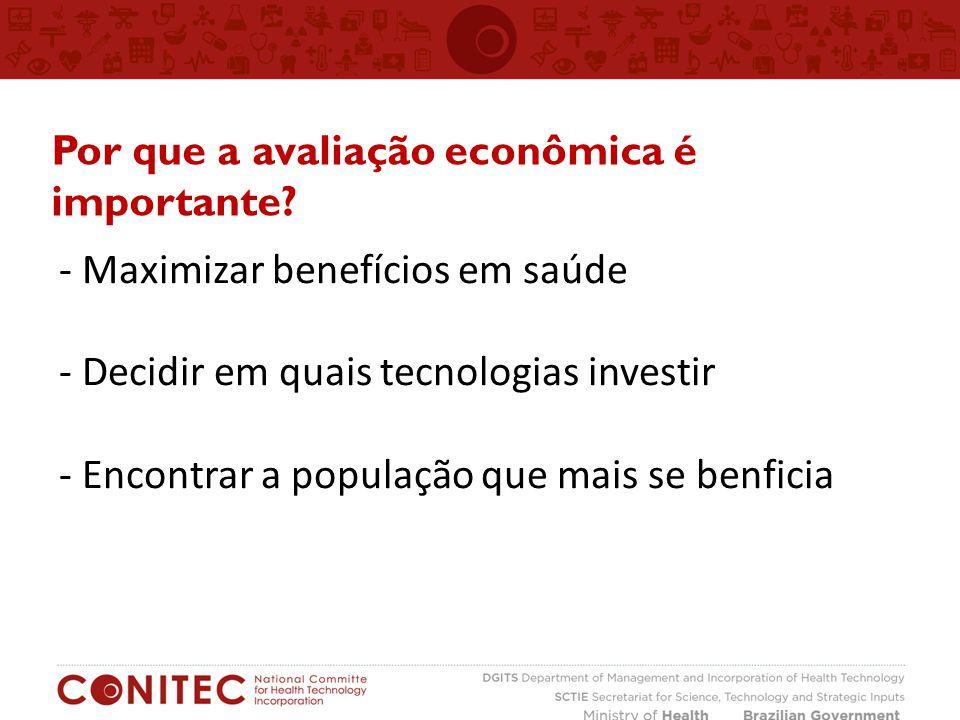 Por que a avaliação econômica é importante