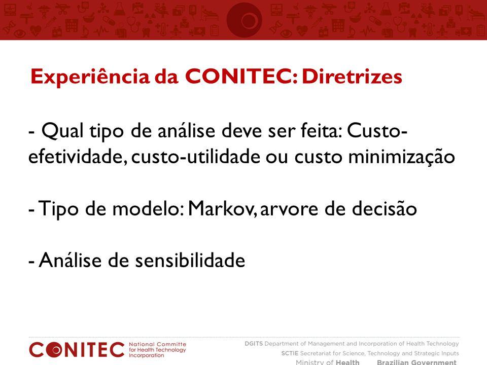 Experiência da CONITEC: Diretrizes