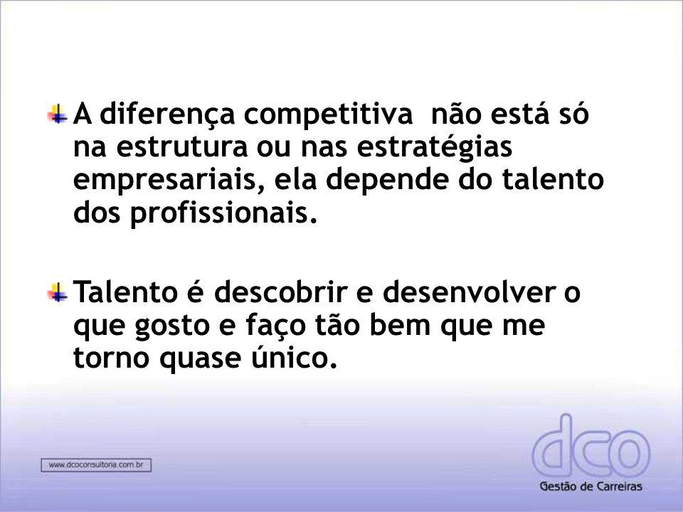 A diferença competitiva não está só na estrutura ou nas estratégias empresariais, ela depende do talento dos profissionais.