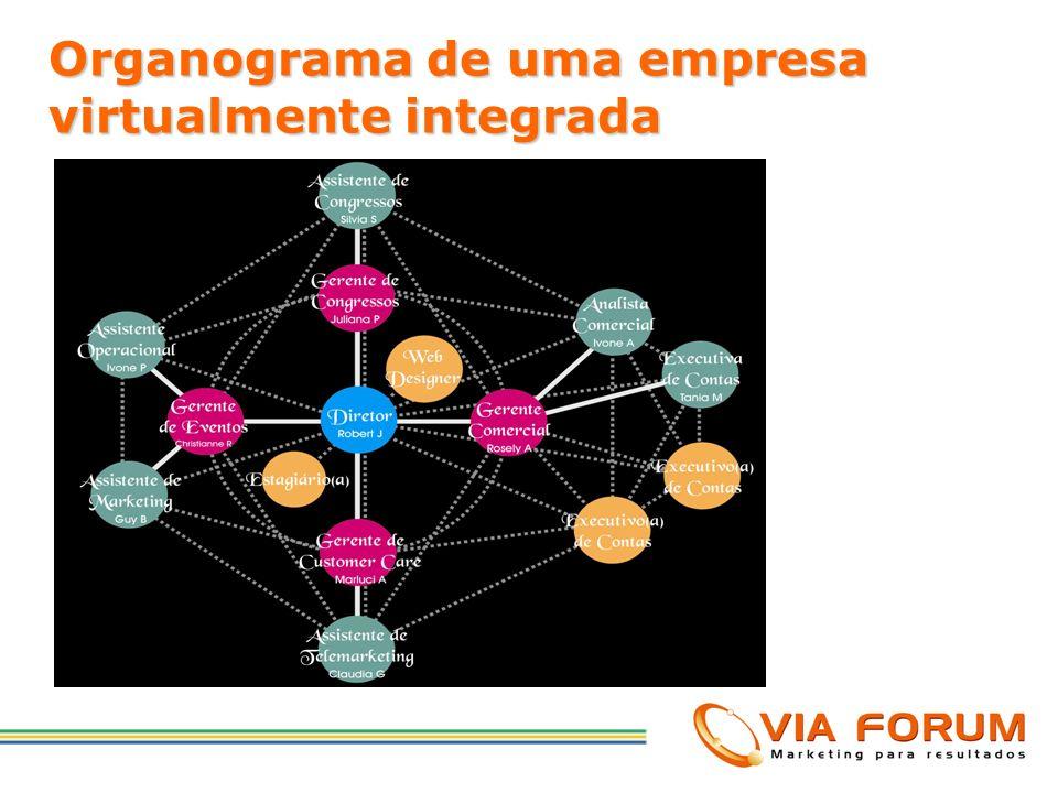 Organograma de uma empresa virtualmente integrada