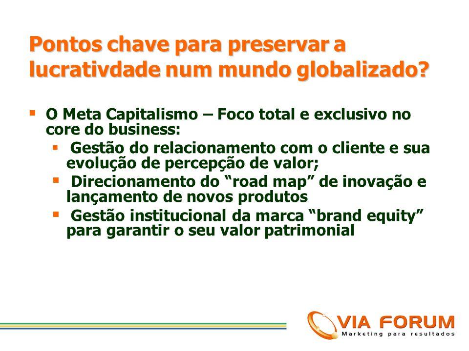 Pontos chave para preservar a lucrativdade num mundo globalizado