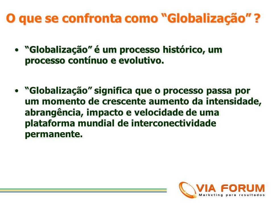 O que se confronta como Globalização