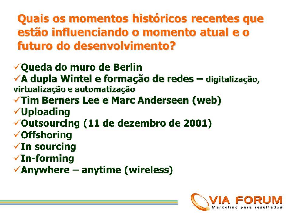 Quais os momentos históricos recentes que estão influenciando o momento atual e o futuro do desenvolvimento