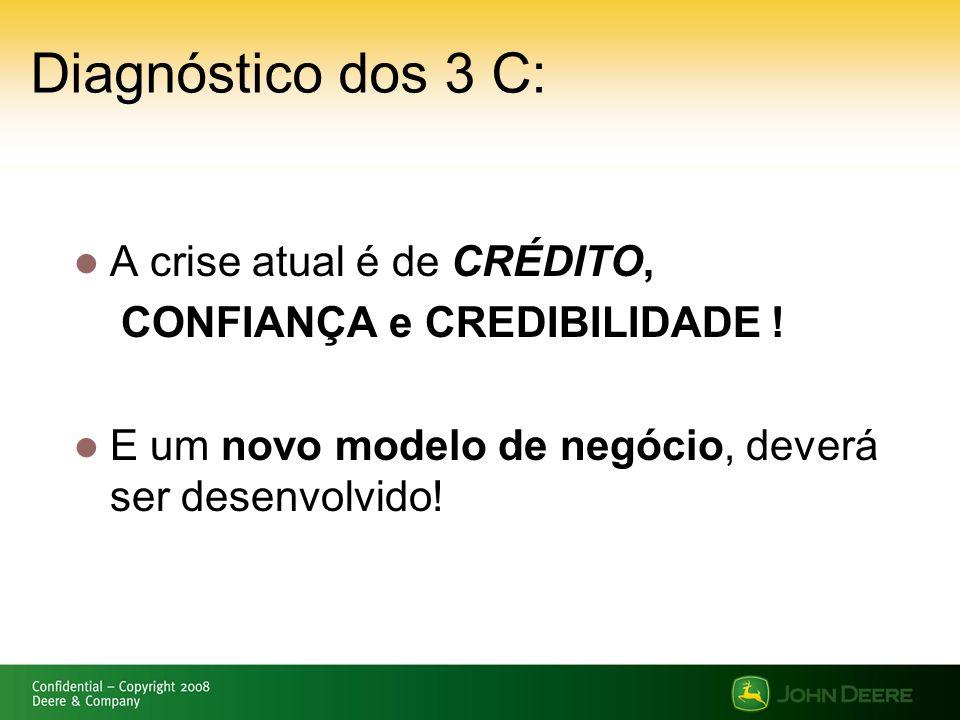 Diagnóstico dos 3 C: A crise atual é de CRÉDITO,