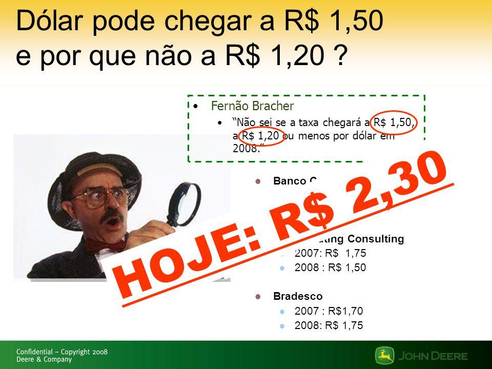 Dólar pode chegar a R$ 1,50 e por que não a R$ 1,20