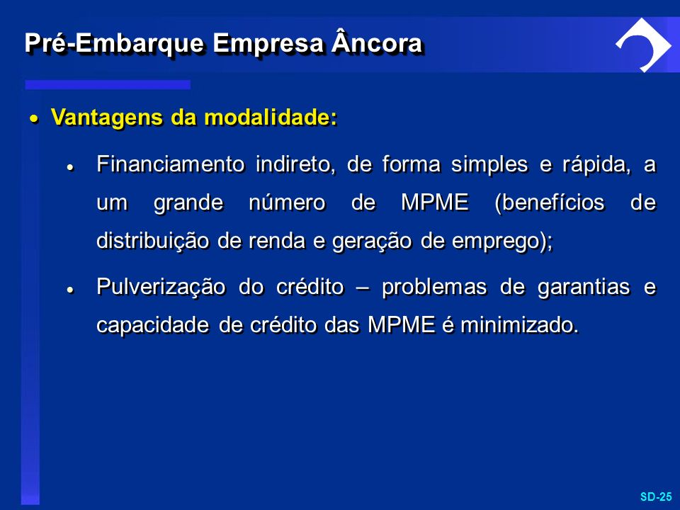 Pré-Embarque Empresa Âncora